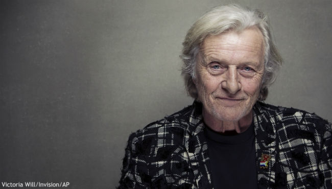 "FILE - This Jan. 19, 2013 file photo shows actor Rutger Hauer at the Sundance Film Festival in Park City, Utah. Hauer, who specialized in menacing roles, including a memorable turn as a murderous android in ""Blade Runner"" opposite Harrison Ford, has died July 19 at his home in the Netherlands. He was 75. (Photo by Victoria Will/Invision/AP, File)"