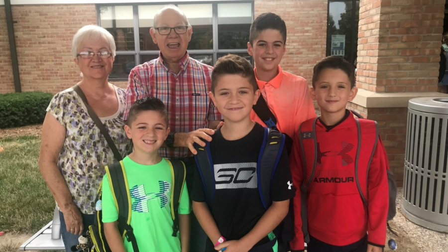 Ernesto and Maria Lopez and grandsons