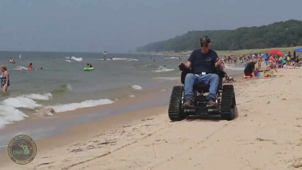 muskegon state park track chair