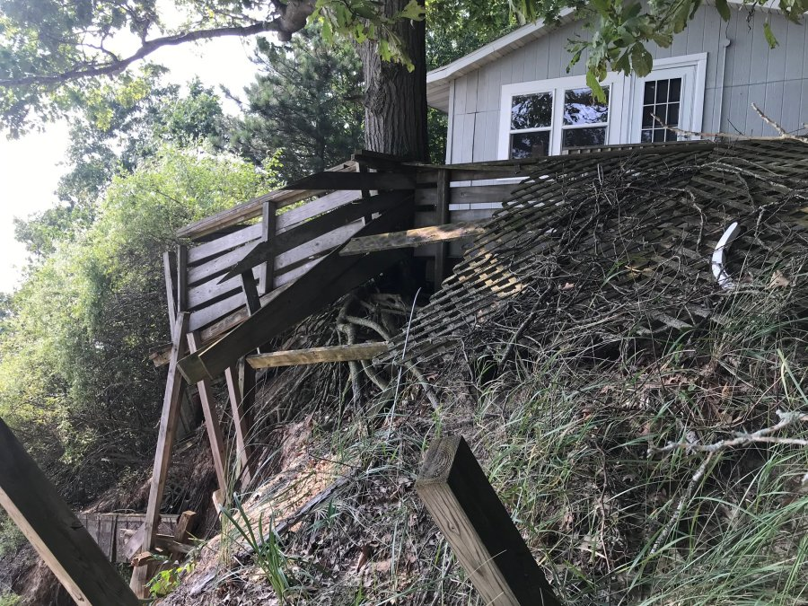 norton shores house in danger