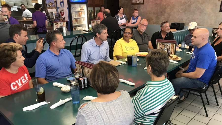 Beto O'Rourke Mount Clemens campaign stop