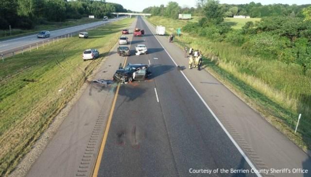 Man and infant hurt in Berrien County crash