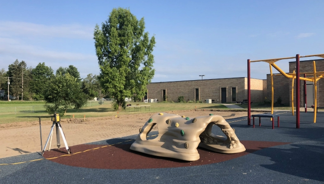 The playground at the Bert Goens Learning Center in Lawrence. (Aug. 15, 2019)