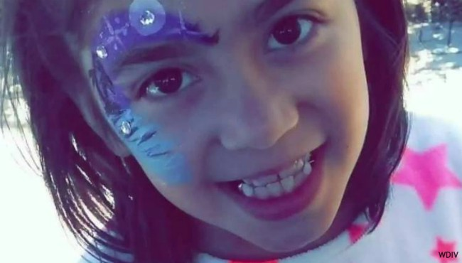 Girl smiling with face paint on