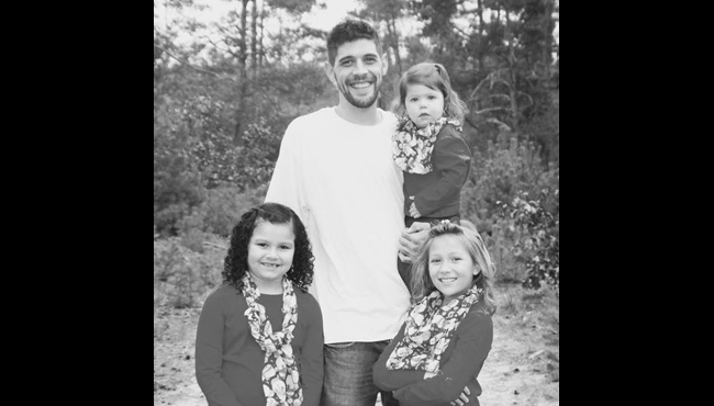 An undated photo of Jordan Schillaci and his three children. Courtesy. (Aug. 10, 2019)