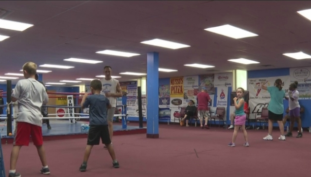 Kids learn about boxing in Grand Rapids