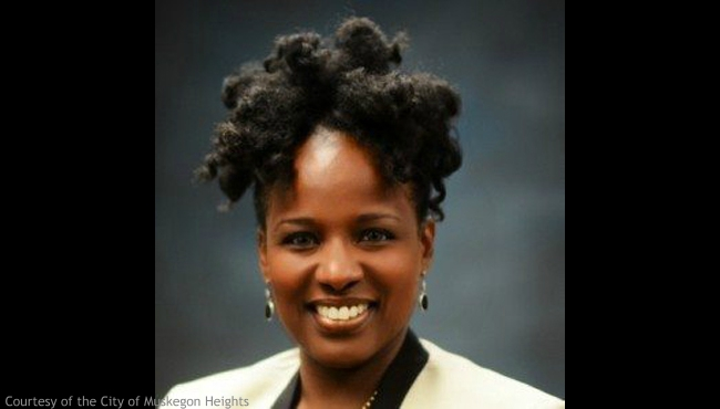 A photo of Muskegon Heights Mayor Kimberley Sims. Courtesy of the City of Muskegon Heights