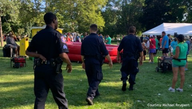A contributed photo of police at the Margarita Madness 5K in Grand Rapids on Aug. 24, 2019. (Courtesy Michael Reygaert)
