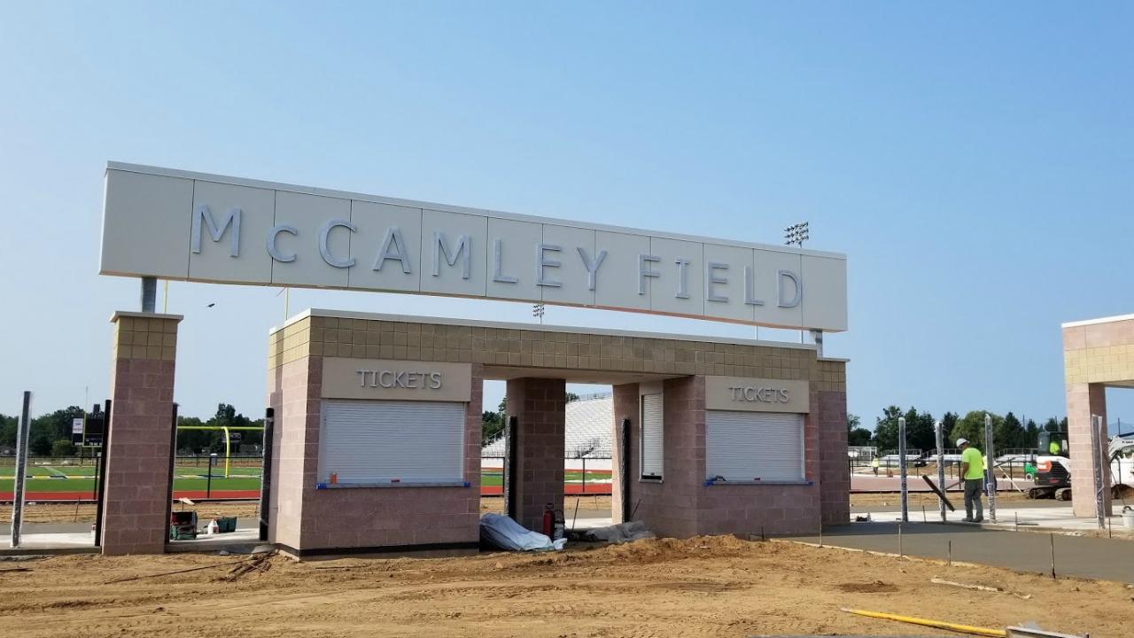McCamley Field construction