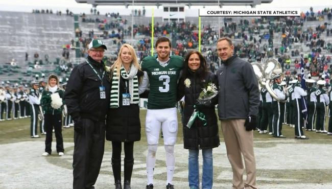 An undated photo of the Sadler family. Courtesy of Michigan State University Athletics.