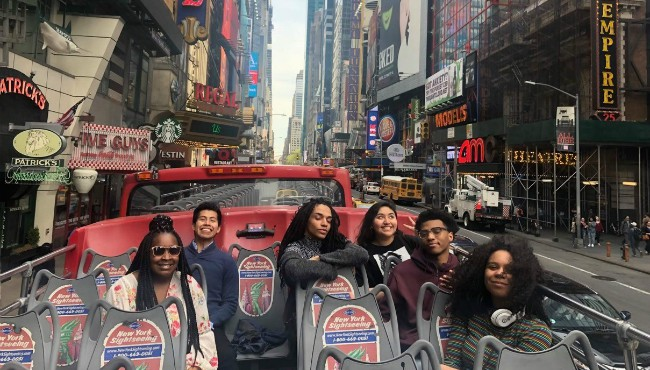 Six Step Year programs in bus in New York City