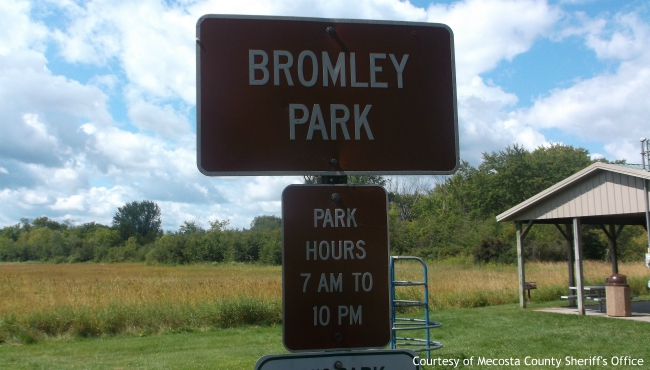 A photo of Bromley Park in the village of Mecosta. Courtesy of Mecosta County Sheriff's Office.