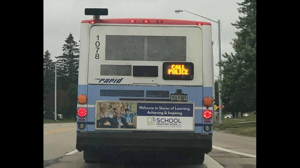 rapid bus call police