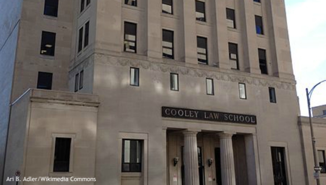A photo of Western Michigan University-Cooley Law School in Lansing. (Courtesy of Ari B. Adler/Wikimedia Commons)