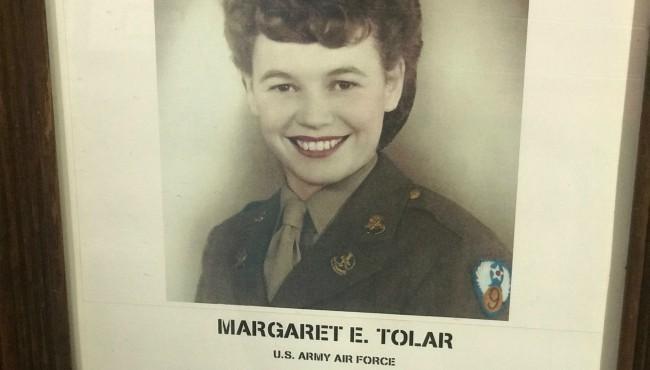 Old photo of Margaret E. Tolar in uniform