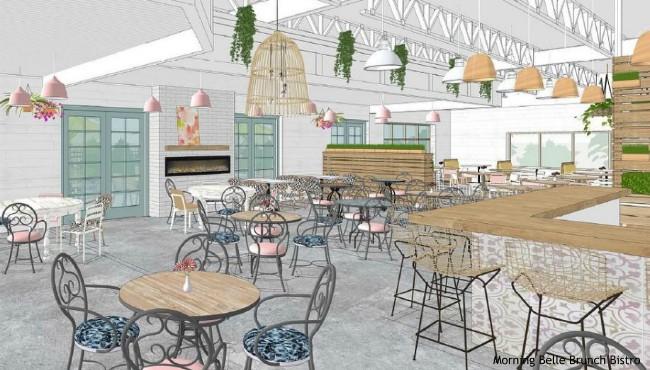 restaurant rendering shows inside