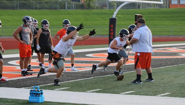 players begin running down field