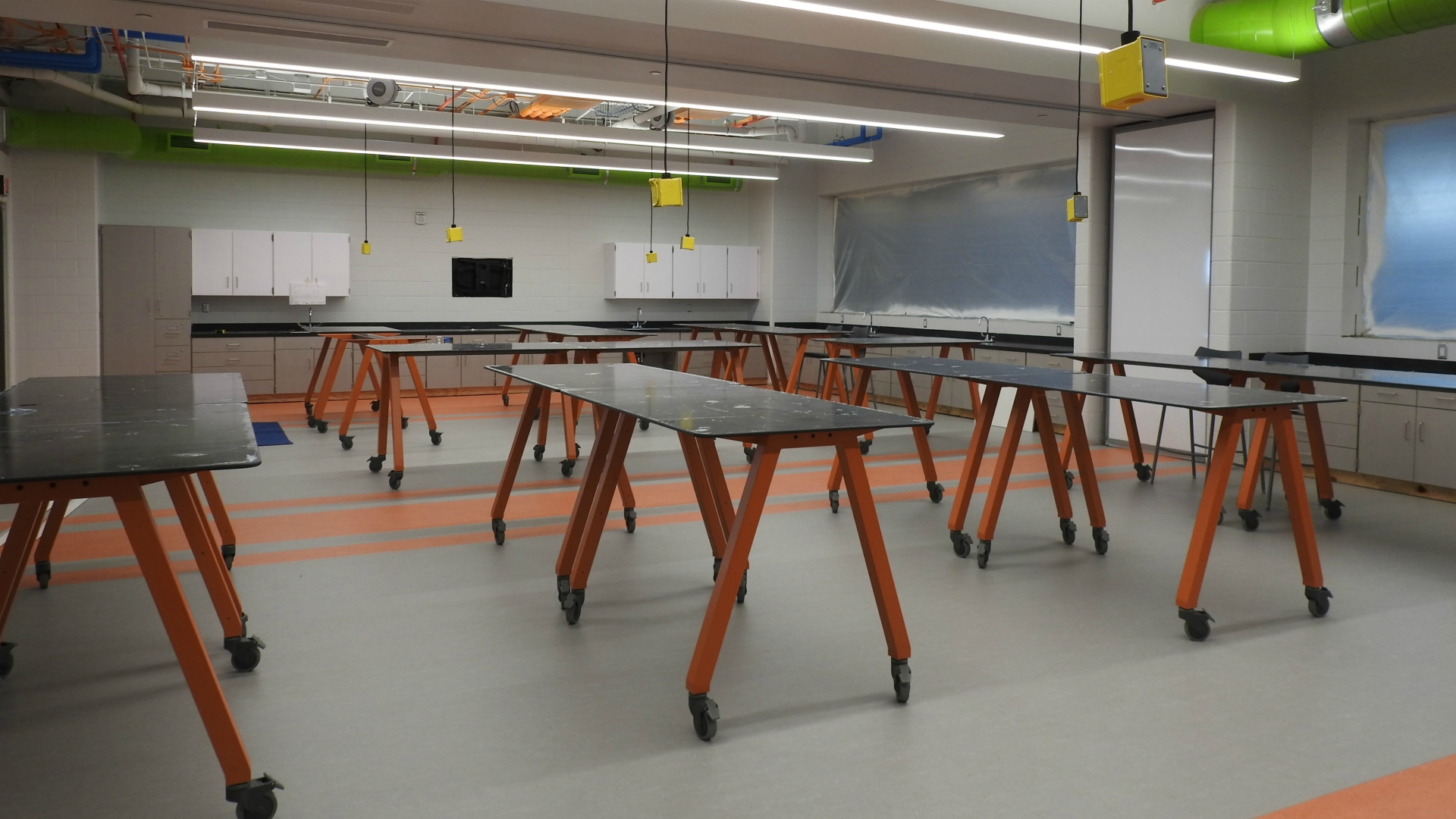 Portage North Middle School furniture in classroom