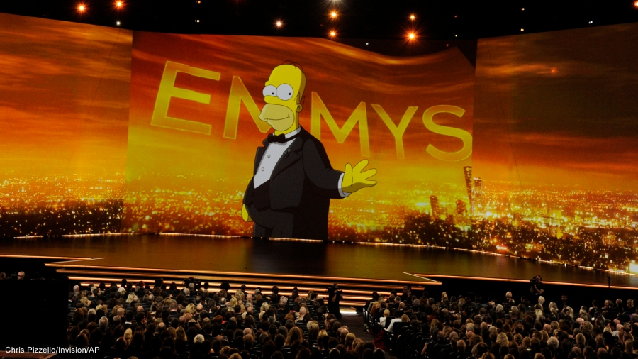 The Emmys Homer Simpson