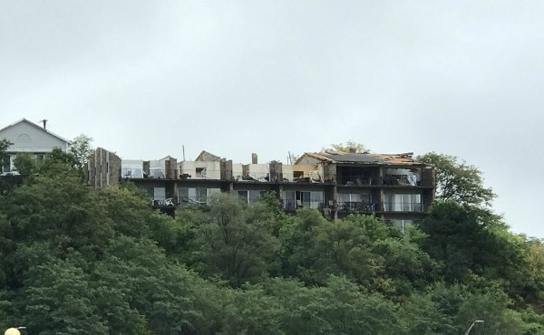 A Sept. 12, 2019 photo shows damage in the Belknap Lookout area of Grand Rapids.