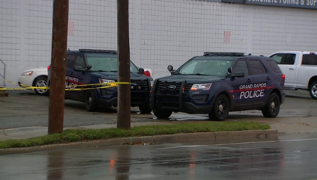 Police are on scene after a body was found on Grand Rapids' southwest side Friday, Sept. 13, 2019.