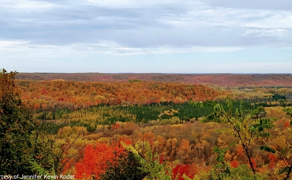 A photo of fall colors at Deadman's Hill Overlook near Elmira. (Courtesy of Jennifer Kevin Kodat)