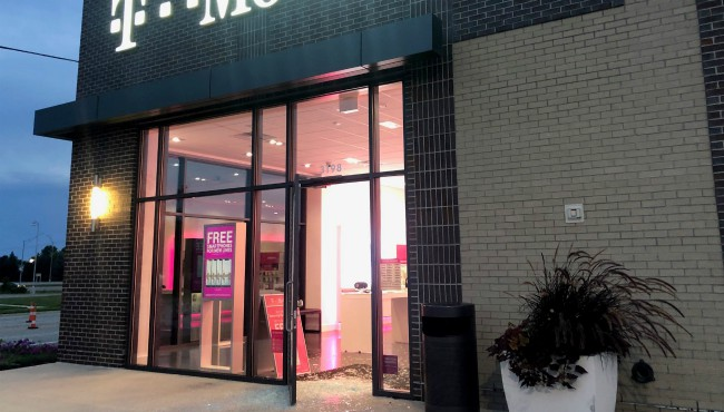A break-in at the T-Mobile store in Grandville Sept. 3, 2019.
