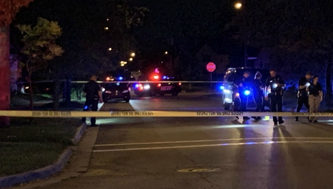 A photo of a shooting in Highland Street in Grand Rapids. (Sept. 2, 2019)