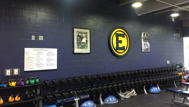 Jimmy Gerken picture on blue wall