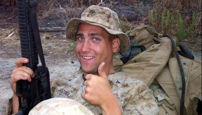 A photo of Mike Koziak when he was serving in Fallujah, Iraq in 2006.