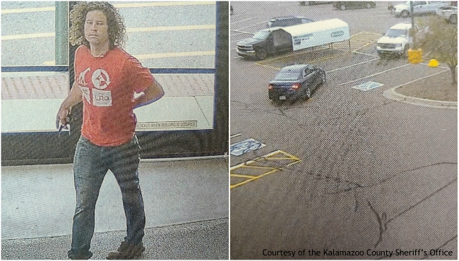 A collage of surveillance photos of a suspect in an incident on Sept. 10, 2019 at the Menards on West Street in Oshtemo Township. (Courtesy of the Kalamazoo County Sheriff's Office)