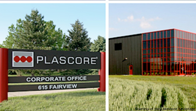A photo of the Plascore office at 615 Fairview Road in Zeeland. (Courtesy of the Lakeshore Advantage)