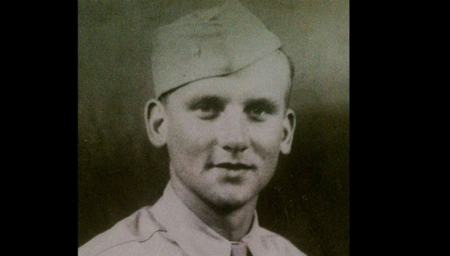 A photo of Stephen Koziak, the brothers' great grandfather who served in World War II.