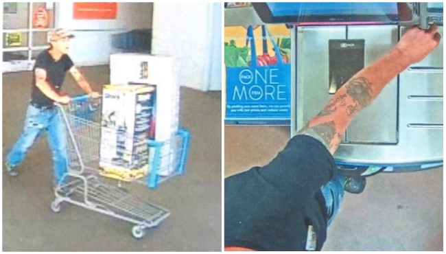 Surveillance photos of a suspect in connection to a bank card fraud. (Michigan State Police)