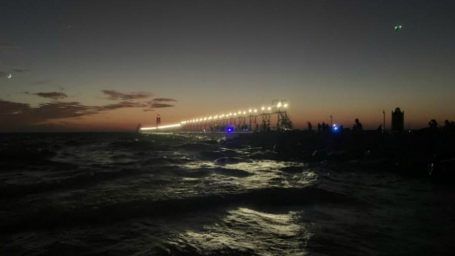 grand haven pier relighting