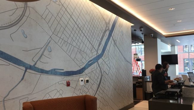 A photo of inside the Hyatt Place Hotel in downtown Grand Rapids. (Sept. 5, 2019)