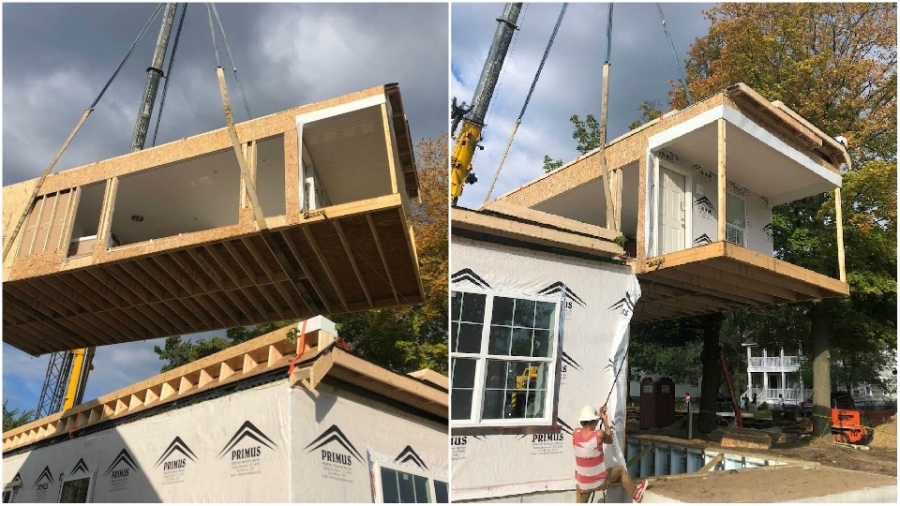muskegon modular home installation