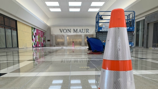 Woodland Mall Von Maur wing opening approaches