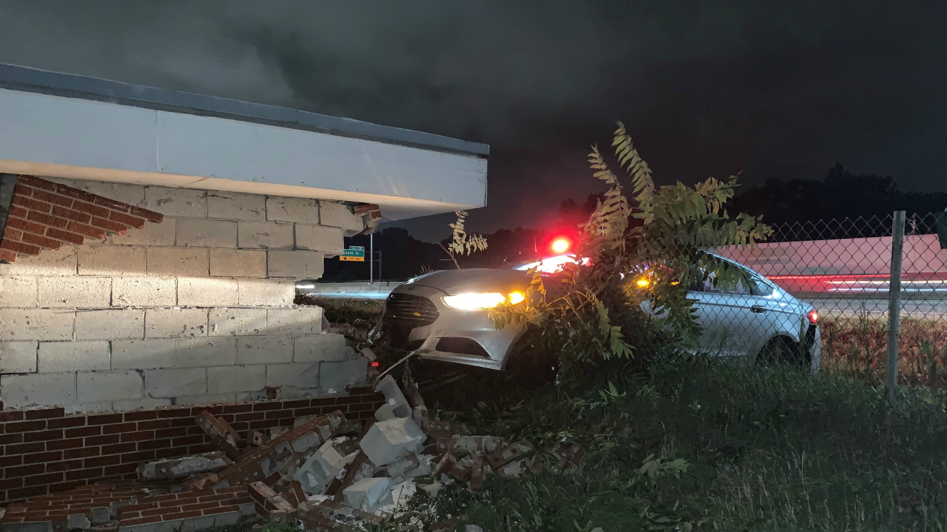 wyoming car into building