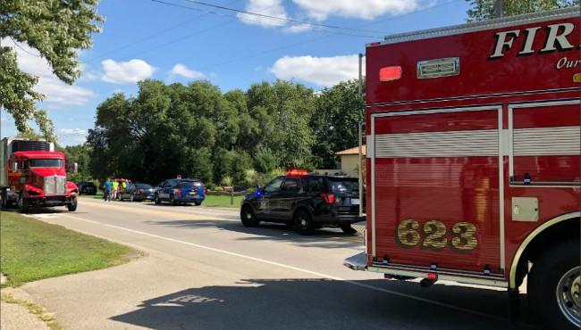 fire truck at scene of crash