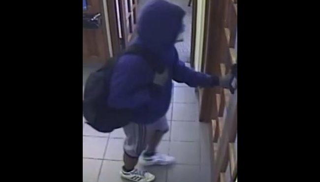 A photo of the suspect who robbed a Chase Bank in Cedar Springs on Oct. 16, 2019. (Courtesy of the Kent County Sheriff's Office)