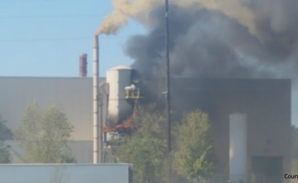 A courtesy photo of a fire at the Dicastal North America facility in Greenville. (Oct. 8, 2019)