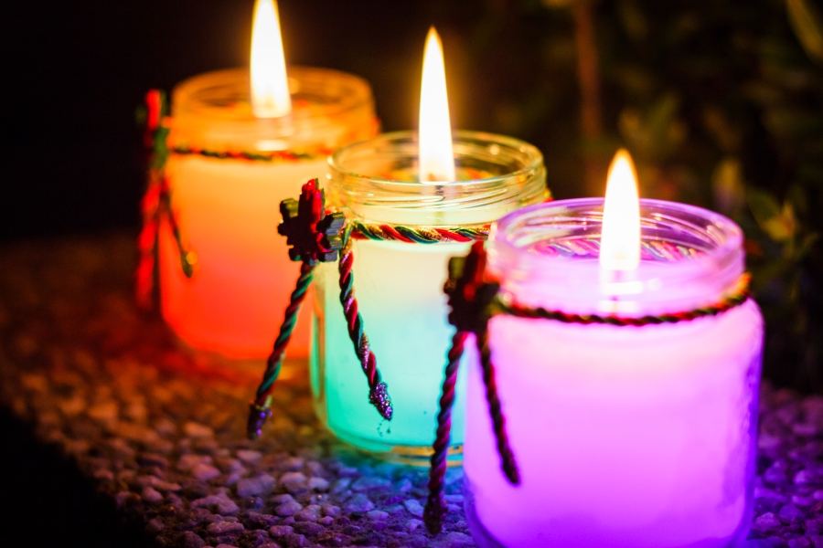 Small, colorful candles.