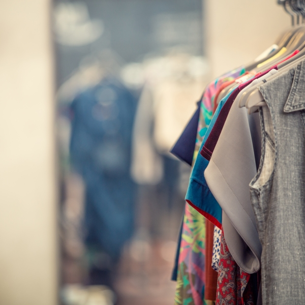 Second hand clothing store