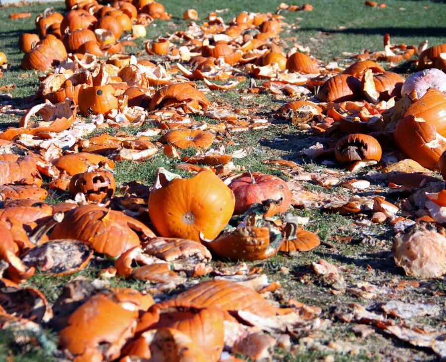 Smashed pumpkins.