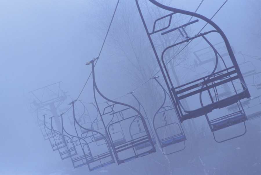 Spooky ski lift.