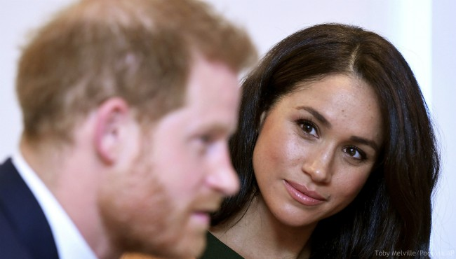 The Duke and Duchess of Sussex attend the annual WellChild Awards in London, Tuesday Oct. 15, 2019. (Toby Melville/Pool via AP)