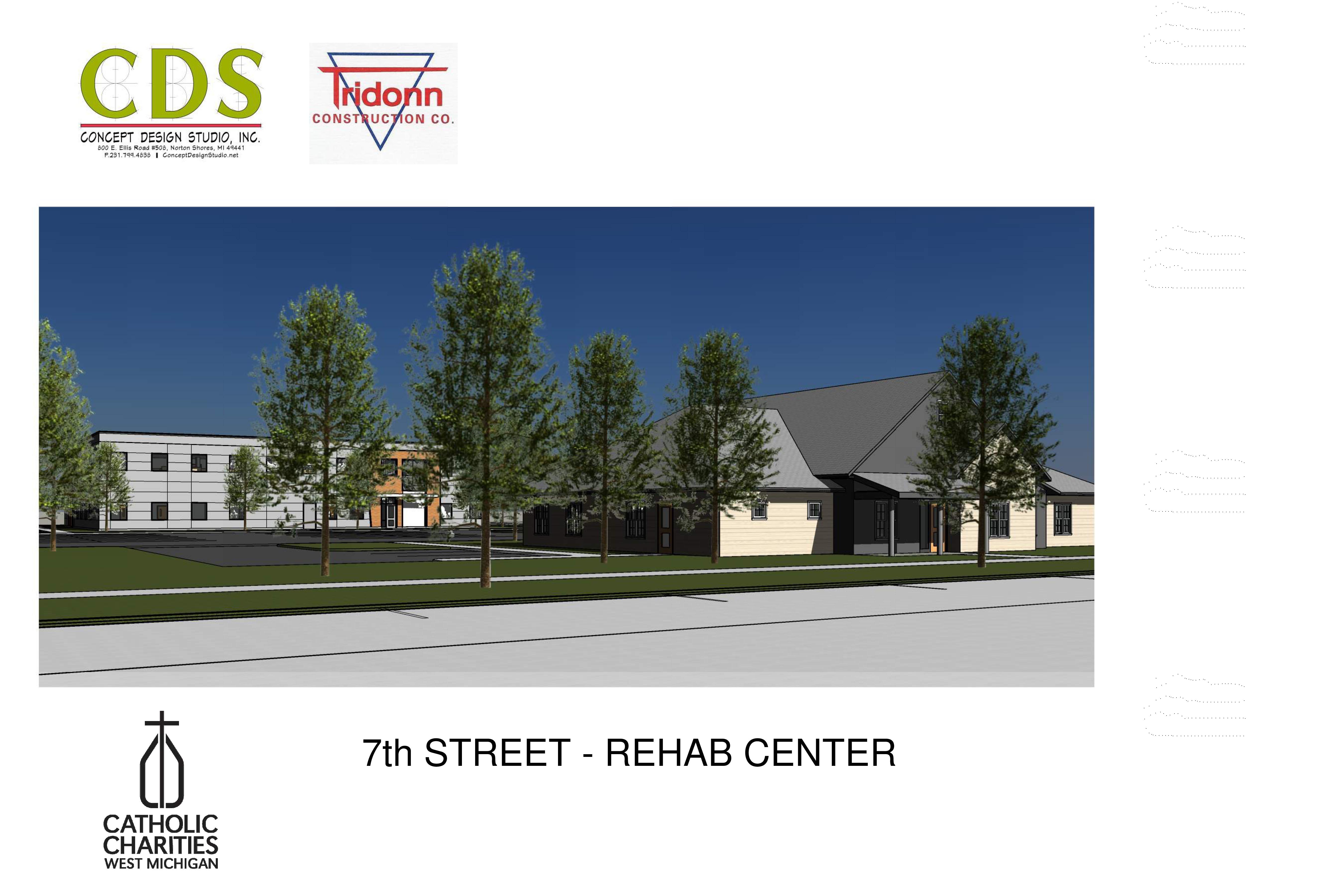 Catholic Charities West Michigan Muskegon campus rendering