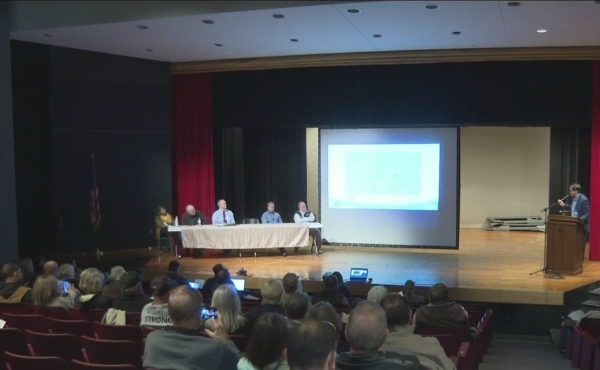 The Allegan County Health Department released the results of a massive soil sampling effort Saturday at the Otsego Middle School auditorium. (Oct. 26, 2019)