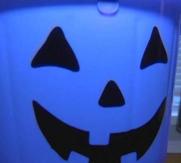 blue halloween bucket autism